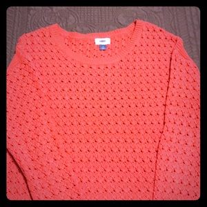 Old Navy tangerine spring/summer sweater. Size M